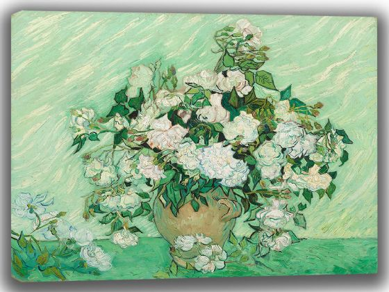 Van Gogh, Vincent: Roses. Fine Art Canvas. Sizes: A4/A3/A2/A1 (003557)
